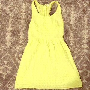 Neon yellow dress w/ side cut outs